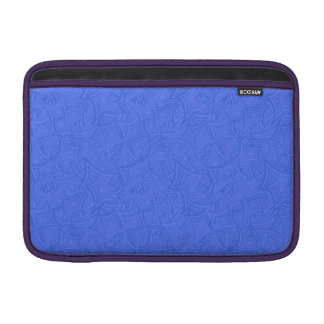 Azure curved shapes sleeve for MacBook air