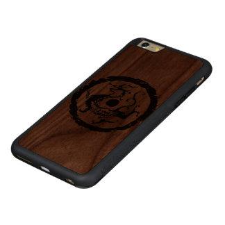 Azure Dragon Carved Walnut iPhone 6 Plus Bumper Case