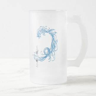 Azure Dragon Frosted Glass Beer Mug