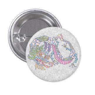 Azure Dragon Pinback Button