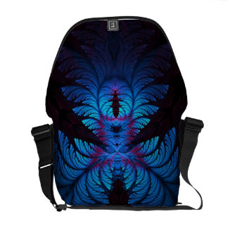 Azure Dreams Fractal Messenger Bag