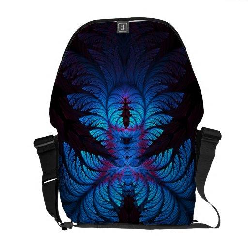 Azure Dreams Fractal Messenger Bag
