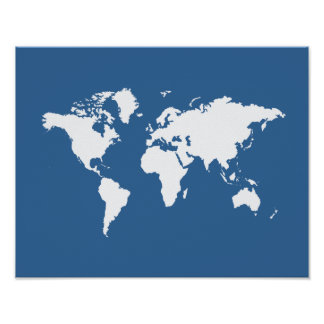 Azure Elegant World Poster