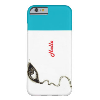 Azure eye and hello barely there iPhone 6 case