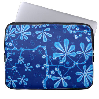 Azure Frost Flower Neoprene Laptop Sleeve