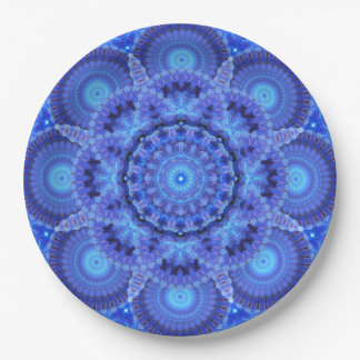 Azure Harmony Mandala Paper Plate