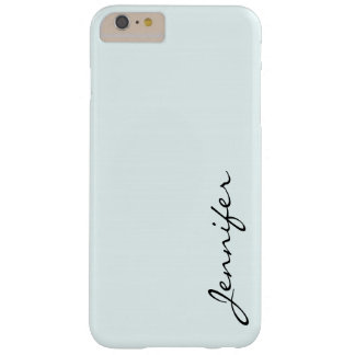 Azure mist color background barely there iPhone 6 plus case