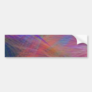 Azure Mountain Majesty Color Abstract Bumper Sticker