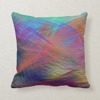 Azure Mountain Majesty Color Abstract Throw Pillow