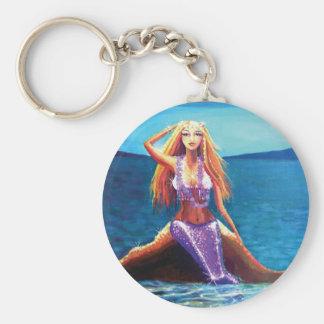 Azure Ocean - Mermaid Art Key Chain