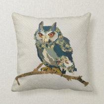 Azure Owl Mojo Pillow