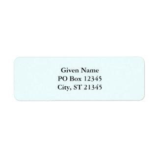 Azure Return Address Label
