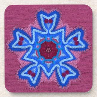 Azure Rose Crochet 1 Drink Coaster