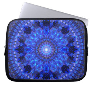 Azure Shield Mandala Laptop Sleeve