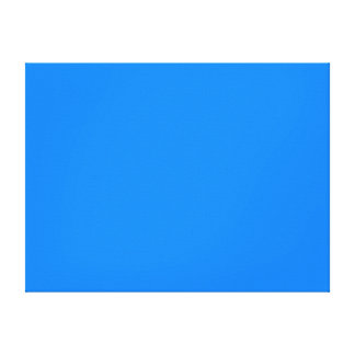 Azure Solid Color Canvas Print