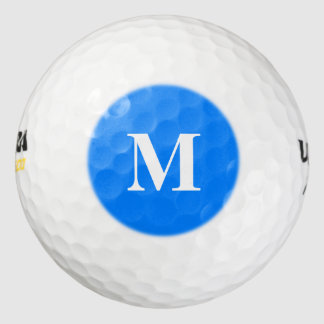 Azure Solid Color Customize It Golf Balls