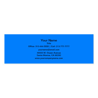 Azure Solid Color Customize It Mini Business Card