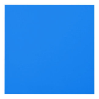 Azure Solid Color Panel Wall Art