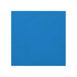Azure Solid Color Wood Wall Decor