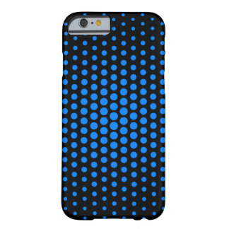 Azure Techno Dots Modern Black Barely There iPhone 6 Case