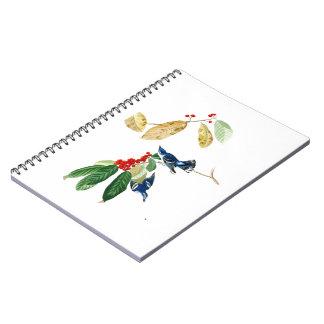 Azure Warbler John James Audubon Birds of America Spiral Notebook