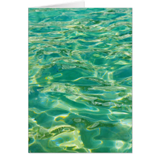 Azure water under bright noon sun card