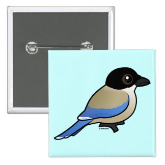 Azure-winged Magpie Pinback Button