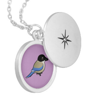 Azure-winged Magpie Silver Plated Necklace