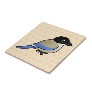 Azure-winged Magpie Tile