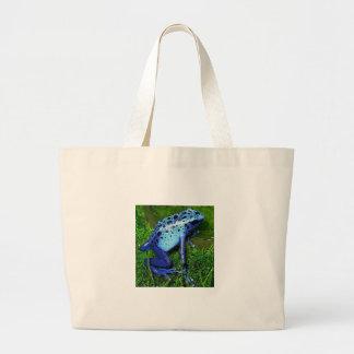 Azureus de Dendrobates - rana azul del veneno Bolsas Lienzo