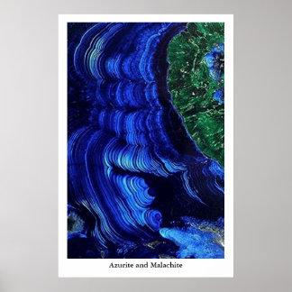 Azurite and Malachite Poster