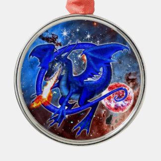 Azurite Cosmic Dragon Ornament