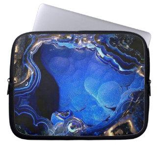Azurite Geode 3D Gel Laptop Sleeve
