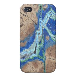 Azurite Malachite Case For iPhone 4