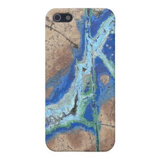 Azurite Malachite Cover For iPhone SE/5/5s