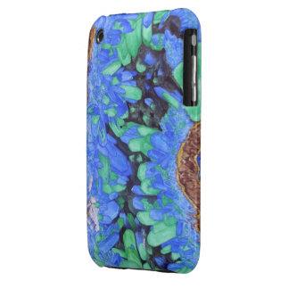 Azurite Malachite Crystals iPhone 3 case