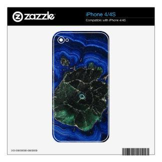 Azurite Malachite Island Decals For iPhone 4