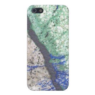 Azurite Malachite Stone iPhone SE/5/5s Cover