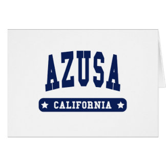Azusa California College Style t shirts Greeting Card