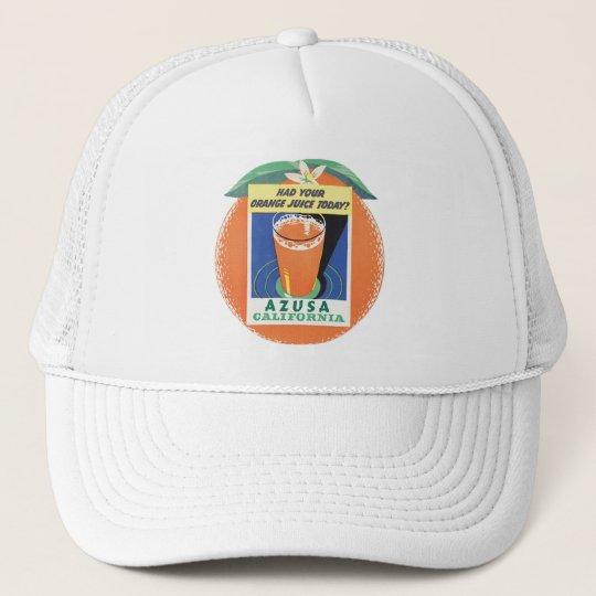 Azusa, California Orange Juice Poster Trucker Hat