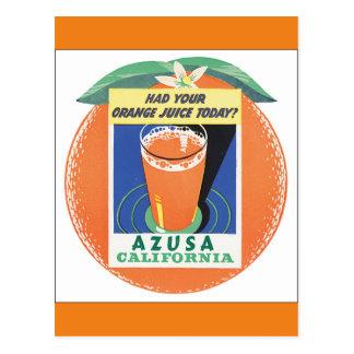 Azusa California Vintage Travel Poster Postcard