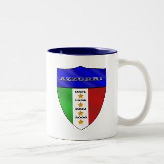 Azzurri 4 times world champions shield Two-Tone coffee mug