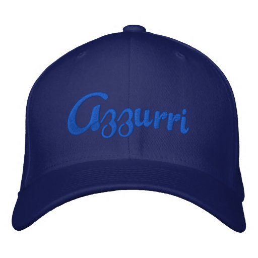 Azzurri Blue Logo Cap for Italian Azzurri fans