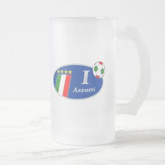 Azzurri Italy Italian Italia Gifts Frosted Glass Beer Mug