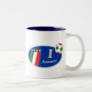 Azzurri Italy Italian Italia Gifts Two-Tone Coffee Mug