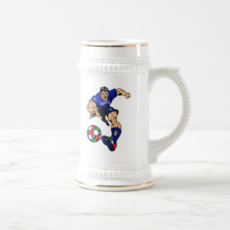 Azzurri Man Italian soccer football gift ideas Beer Stein