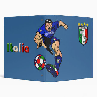 Azzurri Man Italian soccer football gift ideas Binder