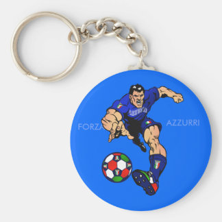 Azzurri Man Italian soccer football gift ideas Key Chain