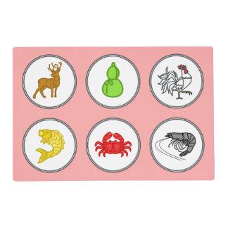 Bầu cua cá cọp - Fish Prawn Crab Game Mat