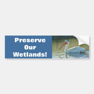 B0004 White Pelican Bumper Sticker